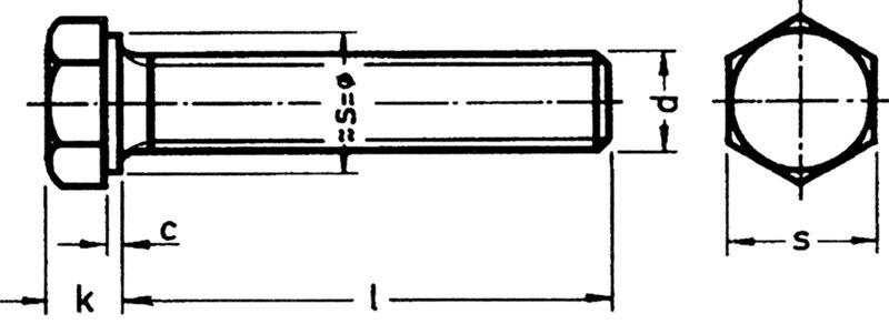 2 Stk DIN 961 Sechskantschraube M10x1x20 Feingewinde ann/ähernd bis Kopf Stahl verzinkt